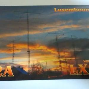 Buro 経由で届いた QSL card LX7I ( Luxembourg )