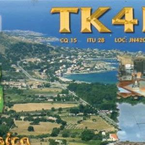 Buro 経由で届いた QSL card TK4LS ( Corsica )