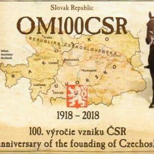 Buro 経由で届いた QSL card OM100CSR ( Slovak Rep. )