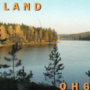 Buro 経由で届いた QSL card OH6BA ( Finland )