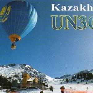 Buro 経由で届いた QSL card UN3GX ( Kazakhstan )