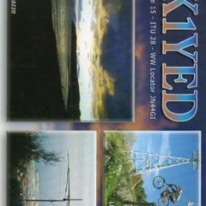 Buro 経由で届いた QSL card IK1YED ( Italy )