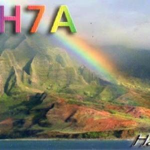 Buro 経由で届いた QSL card NH7A ( Hawaii )