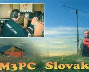 Buro 経由で届いた QSL card OM3PC ( Slovak )