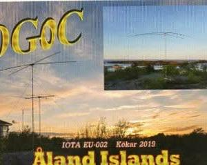 Buro 経由で届いた QSL card OG0C ( Aland Is. )