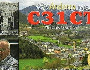 Buro 経由で届いた QSL card C31CT ( Andorra )