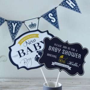 【フォトプロップス】ベビーシャワーやご出産お祝いパーティに使えますよ!