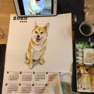 水彩画のカレンダー