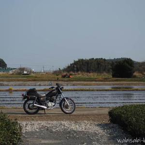 テーマ【田植え前の田んぼ】バイク写真撮影記録