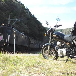 大井川鐵道 ELさくら号とのバイク写真撮影に挑戦!