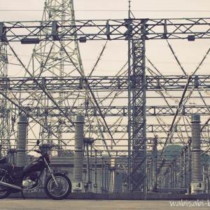 【駿遠変電所】で、バイク写真☆YAMAHA SR125