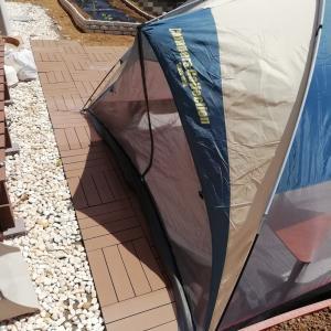 庭にテントを張ってキャンプ気分&夏野菜の苗を植えました!