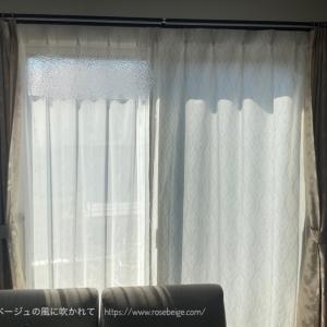 【ミラーレースカーテンに変更②】部屋からの外の眺めはどう変わったか