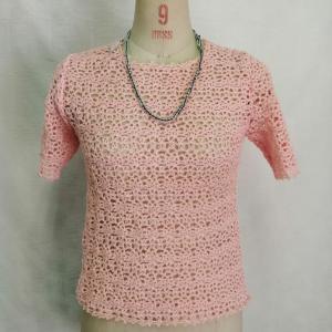 カギ針編み半袖プルオーバー