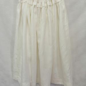 CHECK & STRIPE リネンギャザースカート