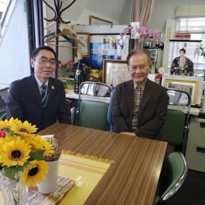 「ご来訪、渡久地県東京事務所長!」