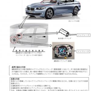 【BMW・ActiveHybrid5 他】エアバッグにリコール
