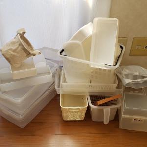 余った収納用品で靴棚の整理