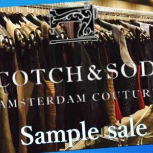 ☆Scotch&Soda sample sale 〜 もう少しでDENHAMも☆