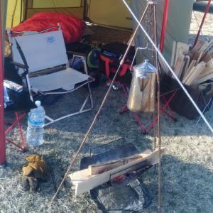 冬の爆風キャンプ/久住高原オートビレッジキャンプ場