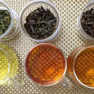 手揉み茶&ホットプレートでウーロン茶と紅茶も作りました(*^^*)