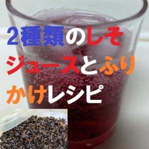 熱中症にピッタリの塩入しそジュース&ふりかけ作り