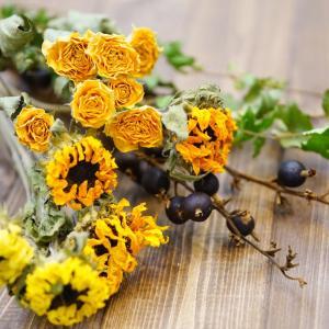 夏に人気の花ヒマワリをドライフラワーにする時に気を付けている事