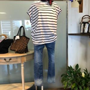 tシャツが大活躍の季節到来♡PASSIONE パシオーネ ゆるっと感がかわいいボートネックかっと