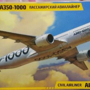 本日の到着キット(2020-2)「ズベズダ1/144 エアバス A350-1000」