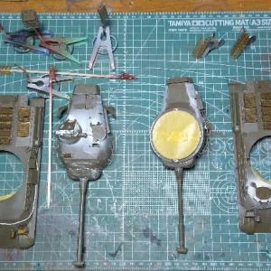ファインモールド1/35 陸自61式戦車製作記 その11 塗装編1「ひっつきむしがない!」