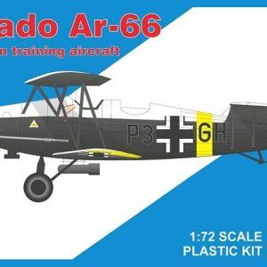 本日の到着キット(2021-15・16) 「RSモデル1/72 アラドAr-66」「スペシャルホビー1/72 メッサーシュミットBf109E-3」