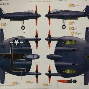 キティホークモデル1/48 ヴォートXF5U-1 フライング フラップジャック試作戦闘機 製作記・2