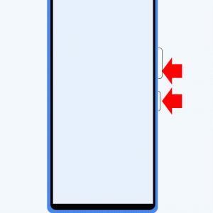 Xperia 10 III SO-52B スクリーンショット方法