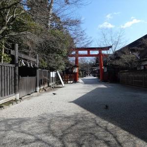 下鴨神社 澄み渡る空に楼門