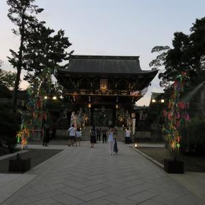 北野七夕祭のライトアップ