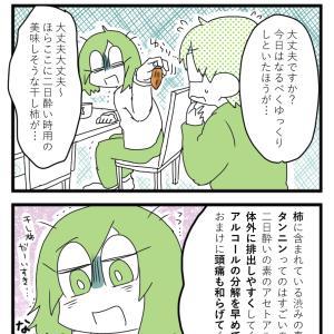 まゆか先生が二日酔い時に食べるもの~柿ってすごい~