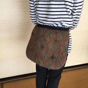 さ〜〜!冬支度!女性の腰守り座布団作り(^^)