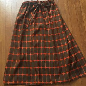 着物リメイク=雨の日の雨コート=ギャザースカート