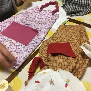 手縫いハンドメイド教室!子供用エプロンセット♪