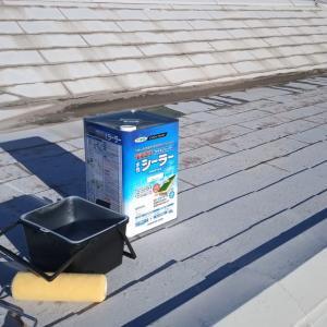 今日は自宅の屋根塗り