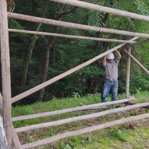最強の助っ人現る!! 薪小屋新築