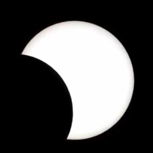 部分日食見えた