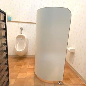 苦楽園本校の子供用トイレにパーテーションを設置しました