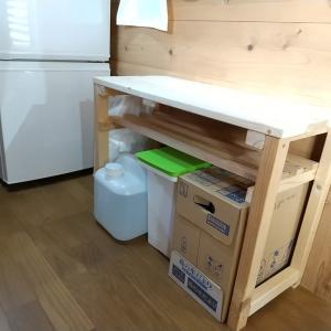 DIYキッチン オープンラック作り