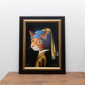 名画が猫になった、cat artシリーズの版画が入荷しました。