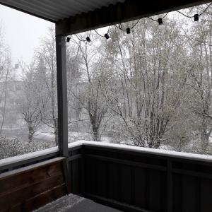 5月半ばの積雪