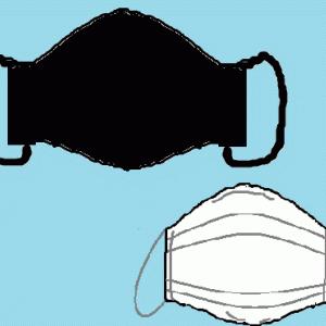 不織布入りの布マスクと、マチ広めのエコバッグ