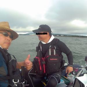 秋田 船川港沖 釣りっこ