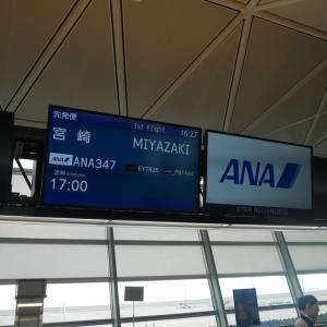 ANA347便 中部→宮崎 搭乗記【2019年旅行記12‐1】