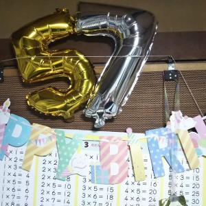 夫、57歳誕生日